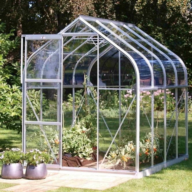 Vitavia Orion Silver Framed Greenhouse 6X8