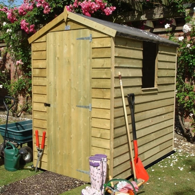 Shire Overlap Apex Pressure Treated Shed 4X6