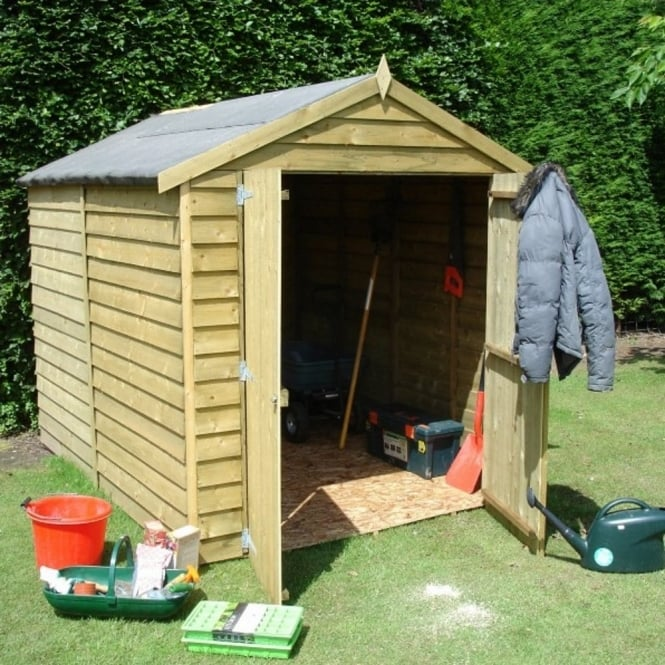 Shire Overlap Apex Pressure Treated Shed 6X8