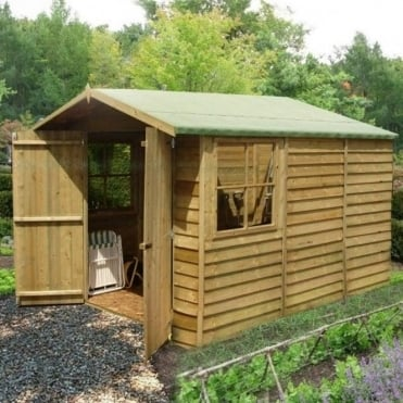 Overlap Apex Pressure Treated Shed 7X10