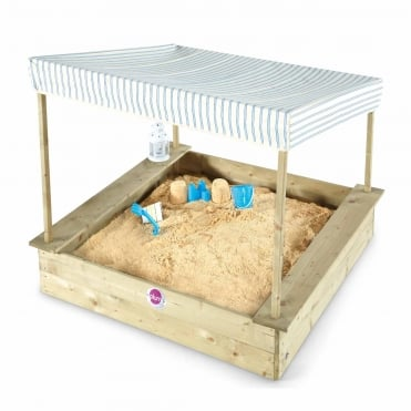 Palm Beach Wooden Sand Pit With Canopy
