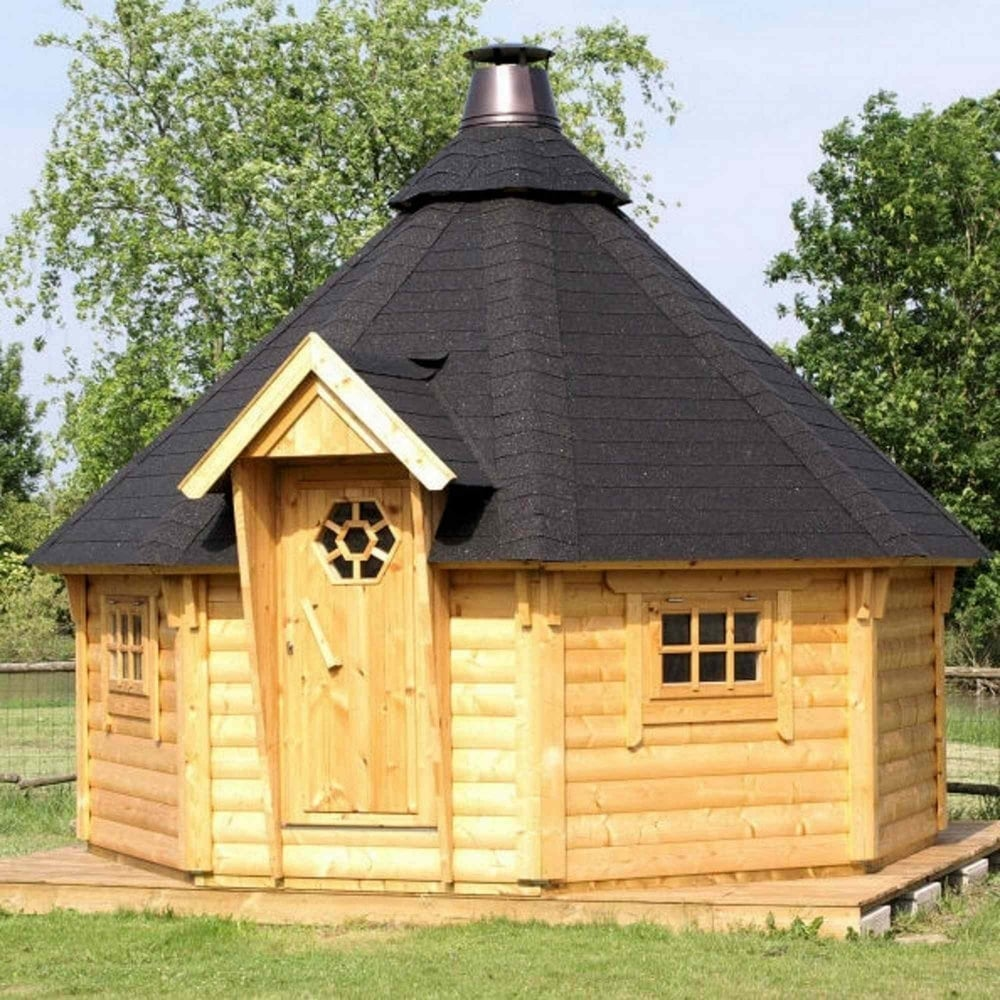 Palmako kylie bbq lodge garden street for Garden huts for sale