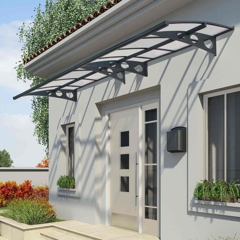 palram herald 4460 door canopy garden street. Black Bedroom Furniture Sets. Home Design Ideas