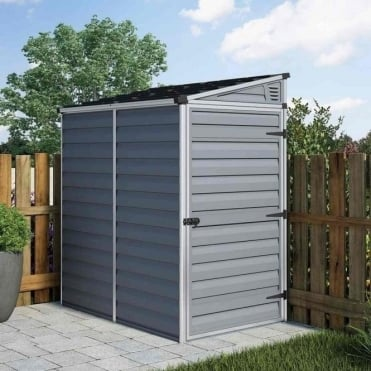 Skylight Anthracite Pent Shed 4X6