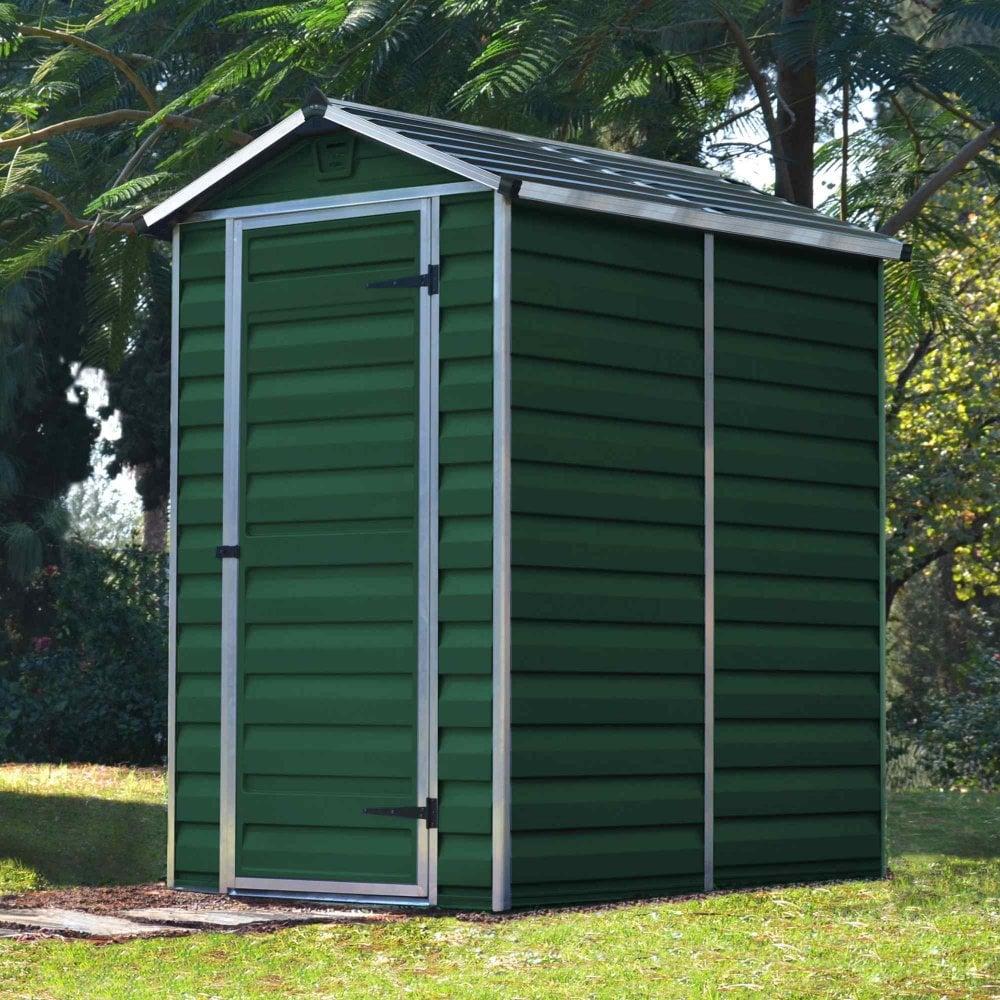 palram skylight plastic amber apex shed 4x6 garden street