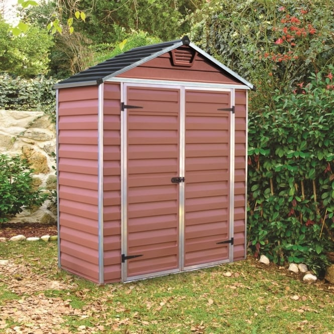 Palram skylight plastic amber apex shed 6x3 garden street for Garden shed 6x3