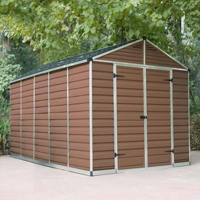Palram SkyLight Plastic Amber Apex Shed 8X12