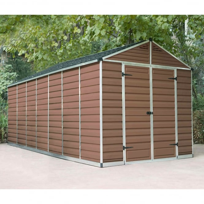 Palram SkyLight Plastic Amber Apex Shed 8X16
