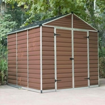 SkyLight Plastic Amber Apex Shed 8X8