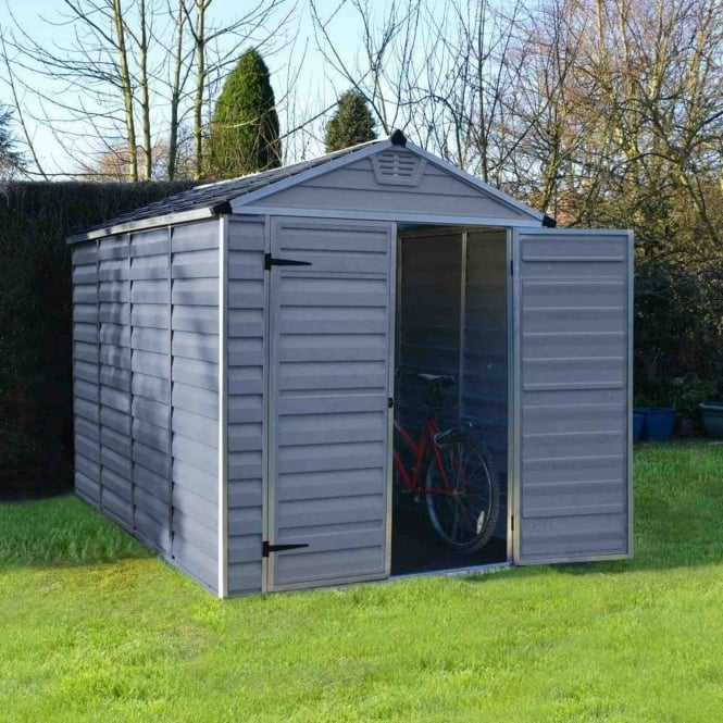Palram SkyLight Plastic Anthracite Apex Shed 6X10
