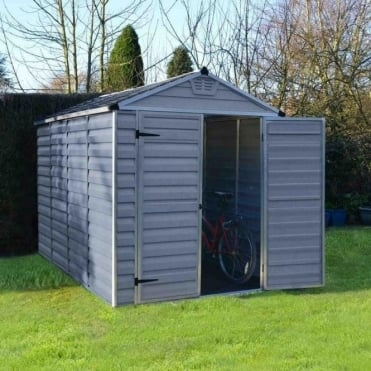 SkyLight Plastic Anthracite Apex Shed 6X10