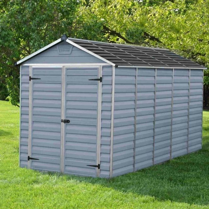 Palram SkyLight Plastic Anthracite Apex Shed 6X12