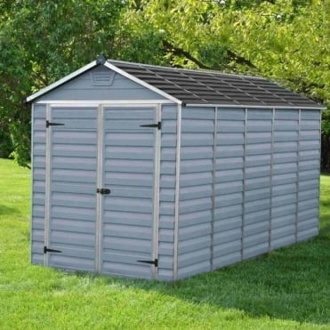 SkyLight Plastic Anthracite Apex Shed 6X12