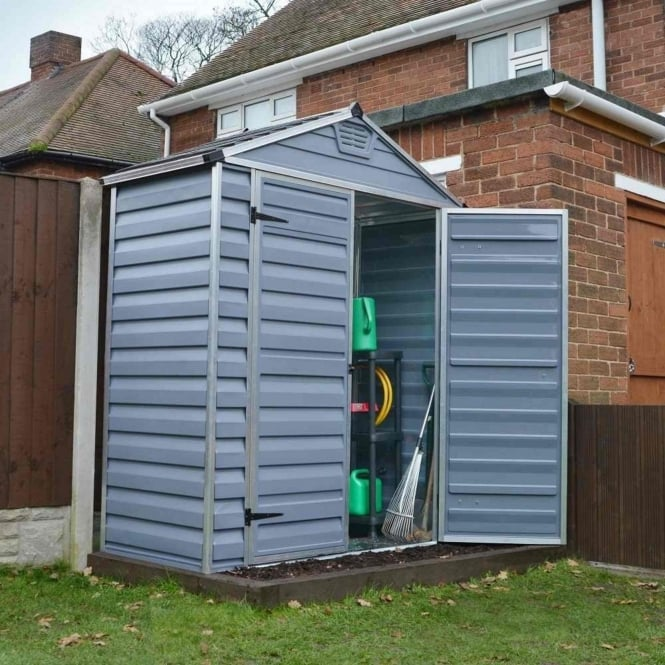 Palram SkyLight Plastic Anthracite Apex Shed 6X3