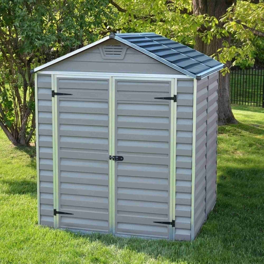 Palram Skylight Plastic Anthracite Apex Shed 6x5 Garden