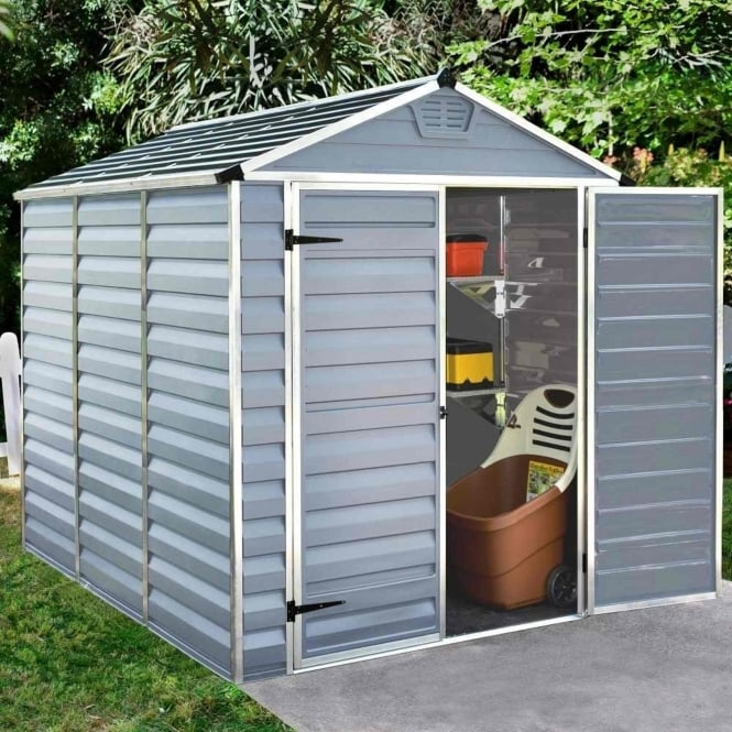 Palram SkyLight Plastic Anthracite Apex Shed 6X8