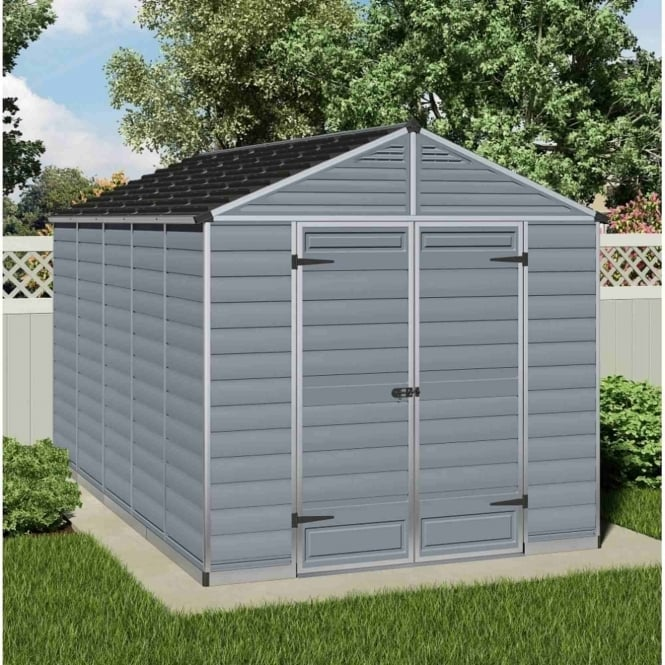 Palram SkyLight Plastic Anthracite Apex Shed 8X12