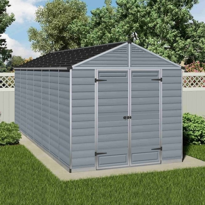 Palram SkyLight Plastic Anthracite Apex Shed 8X16