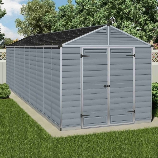 Palram SkyLight Plastic Anthracite Apex Shed 8X20