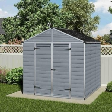 SkyLight Plastic Anthracite Apex Shed 8X8