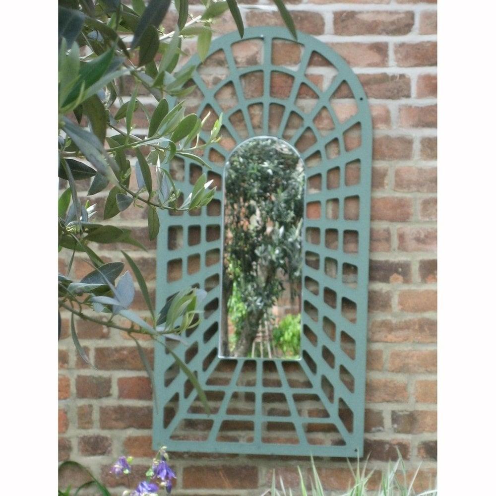 1 2m illusion perspective arch trellis garden mirror