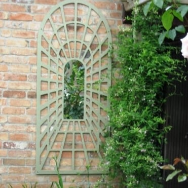 1.8m Illusion Perspective Arch Trellis Wide Garden Mirror