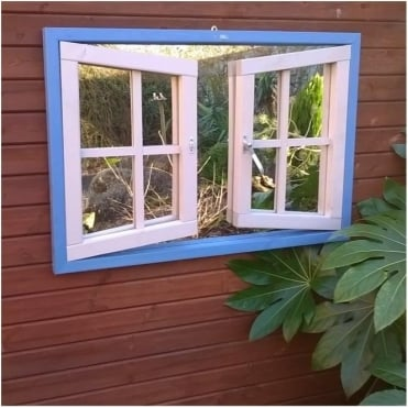 Double Window Ajar Garden Mirror
