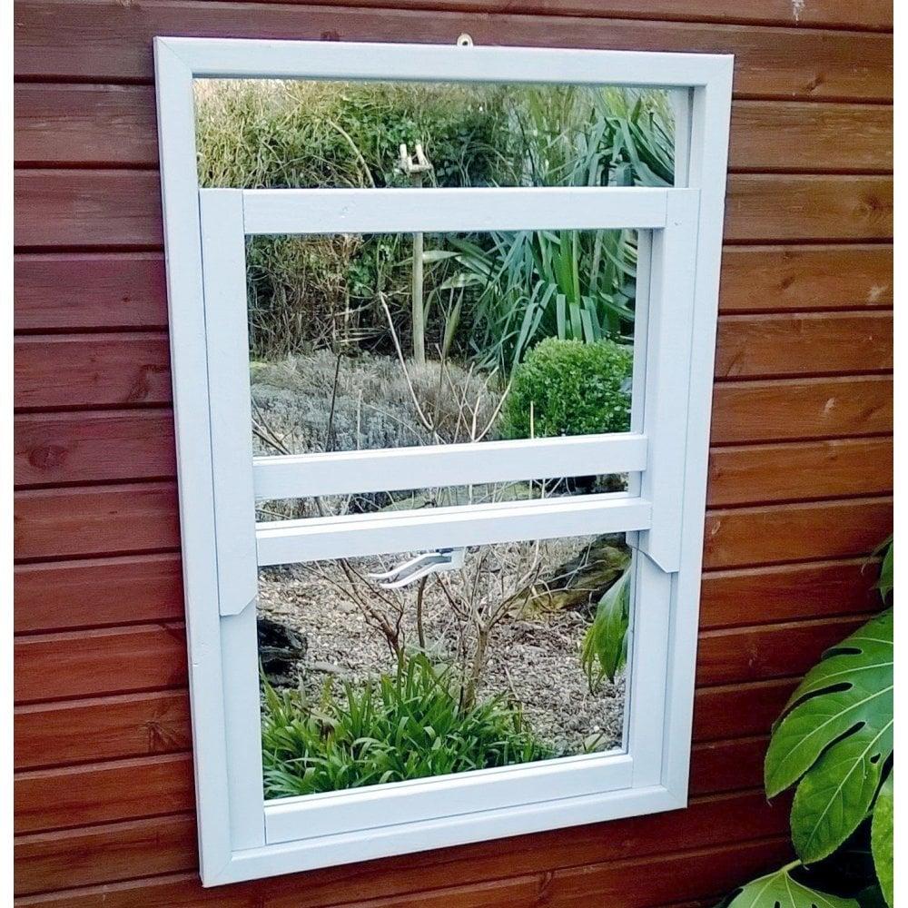 Parallax Illusion Sash Window Garden Mirror