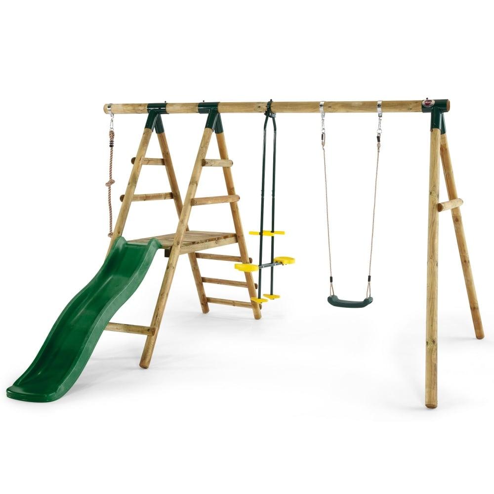 Plum Meerkat Wooden Garden Swing and Climbing Frame   Garden Street