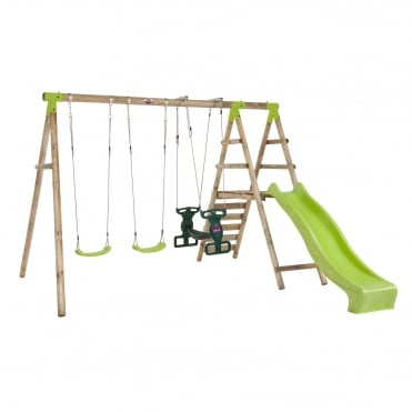 Silverback Wooden Swing Set With Slide