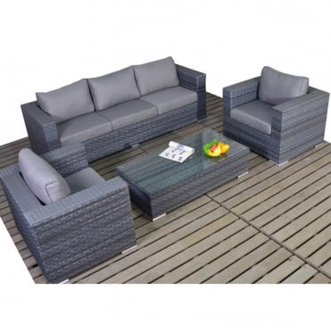 Platinum Grey Large Sofa Set