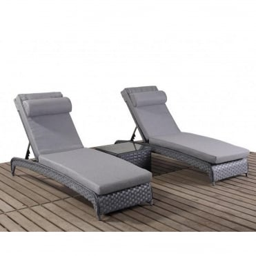 Platinum Grey Lounger Set