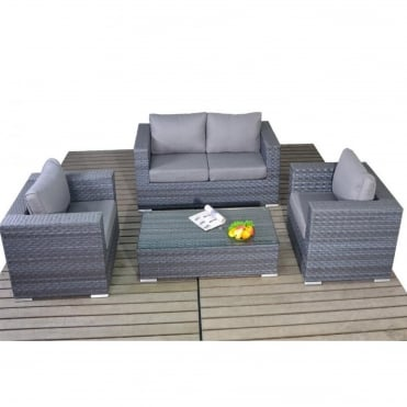 Platinum Grey Small Sofa Set