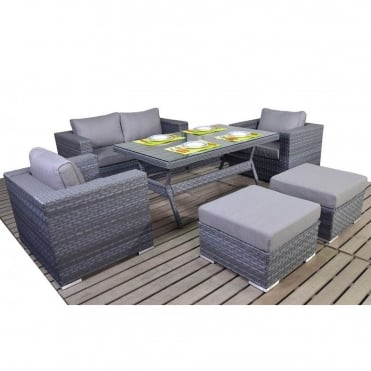 Platinum Grey Sofa Dining Set