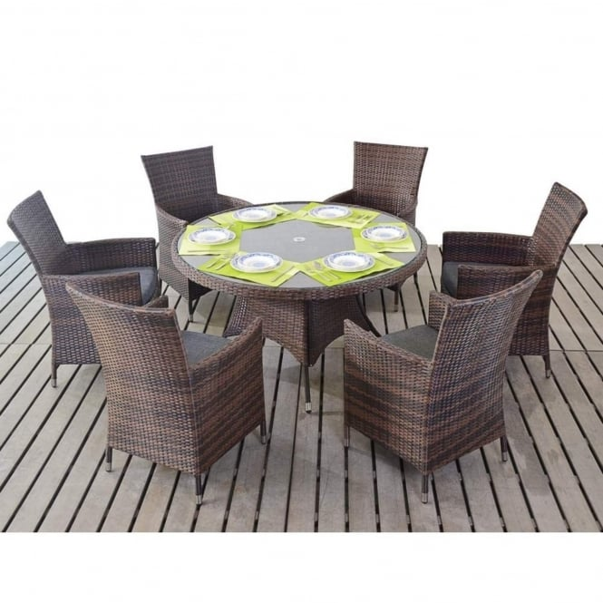 Port Royal Prestige Round 6 Seater Dining Set