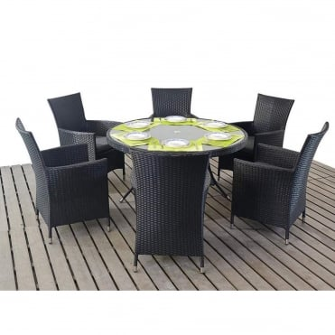 Prestige Round 6 Seater Dining Set