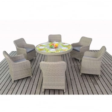 Rural 6 Seater Round Dining Set