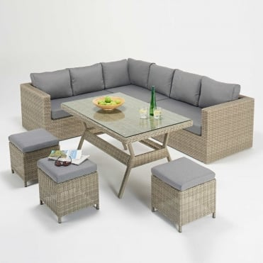 Rural Table Corner Sofa Set