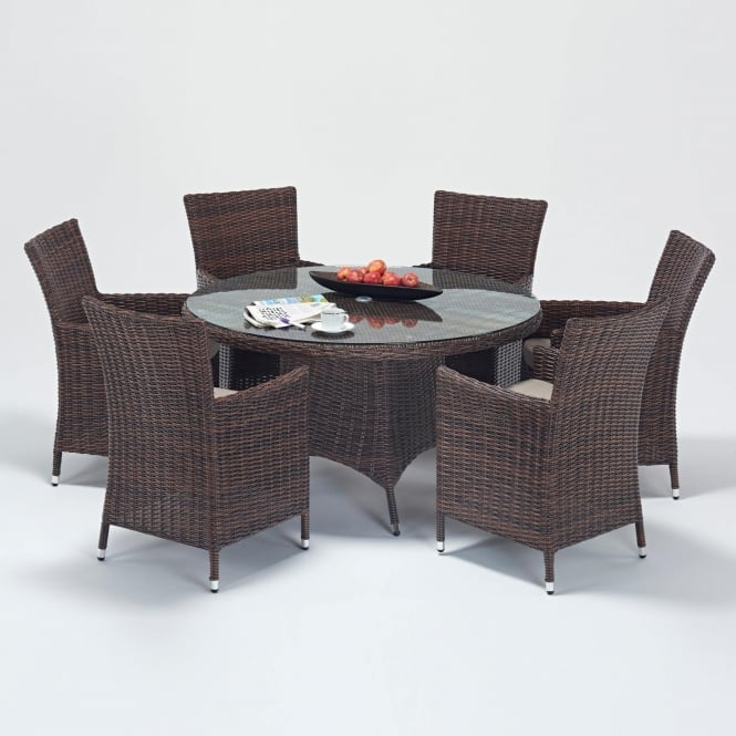 Port Royal Windsor Round 6 Seater Dining Set
