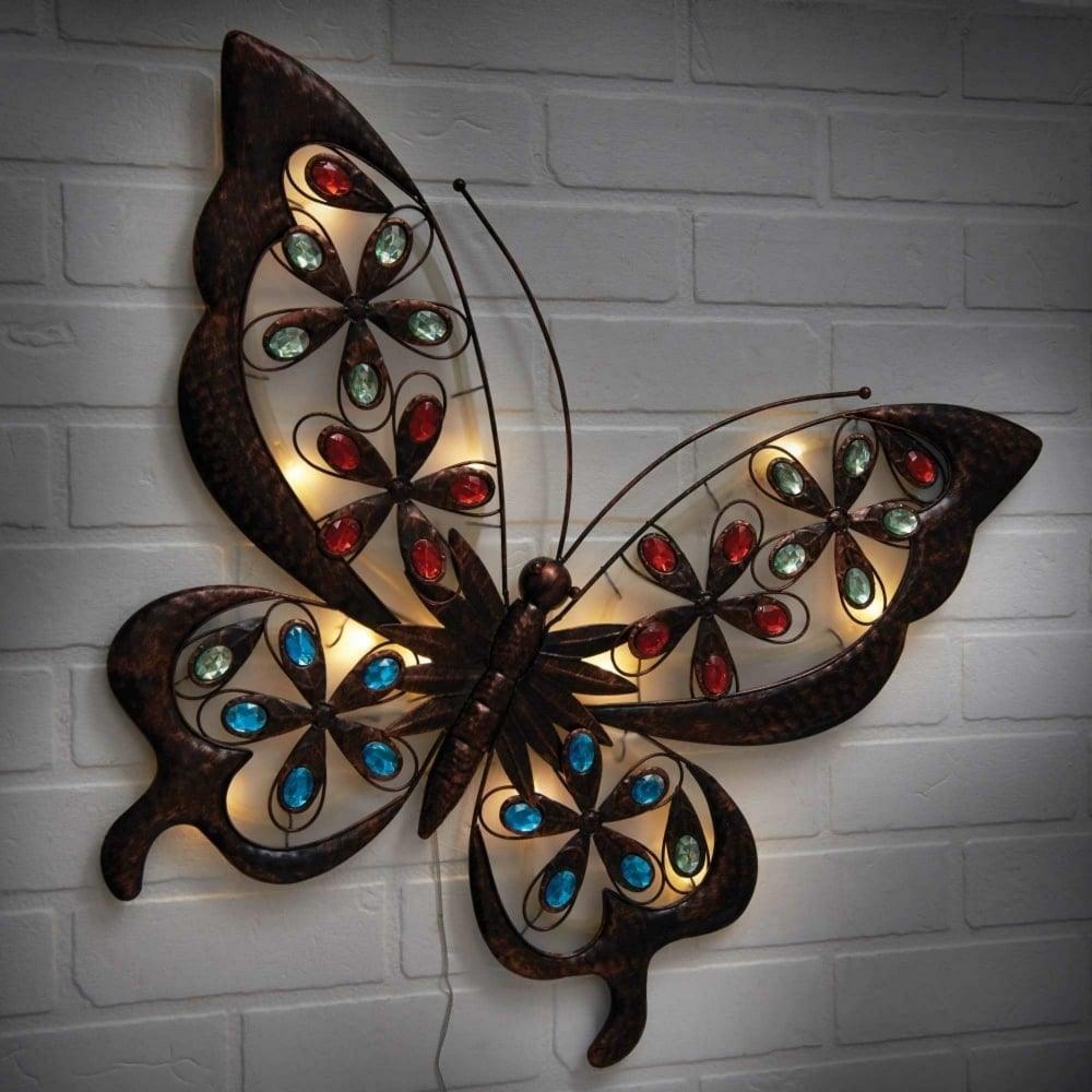 8c863ea4555 Powertek Large Solar Butterfly Wall Art