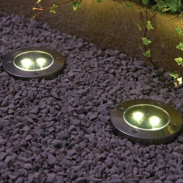 Solar Floor Lights - Pack of Four