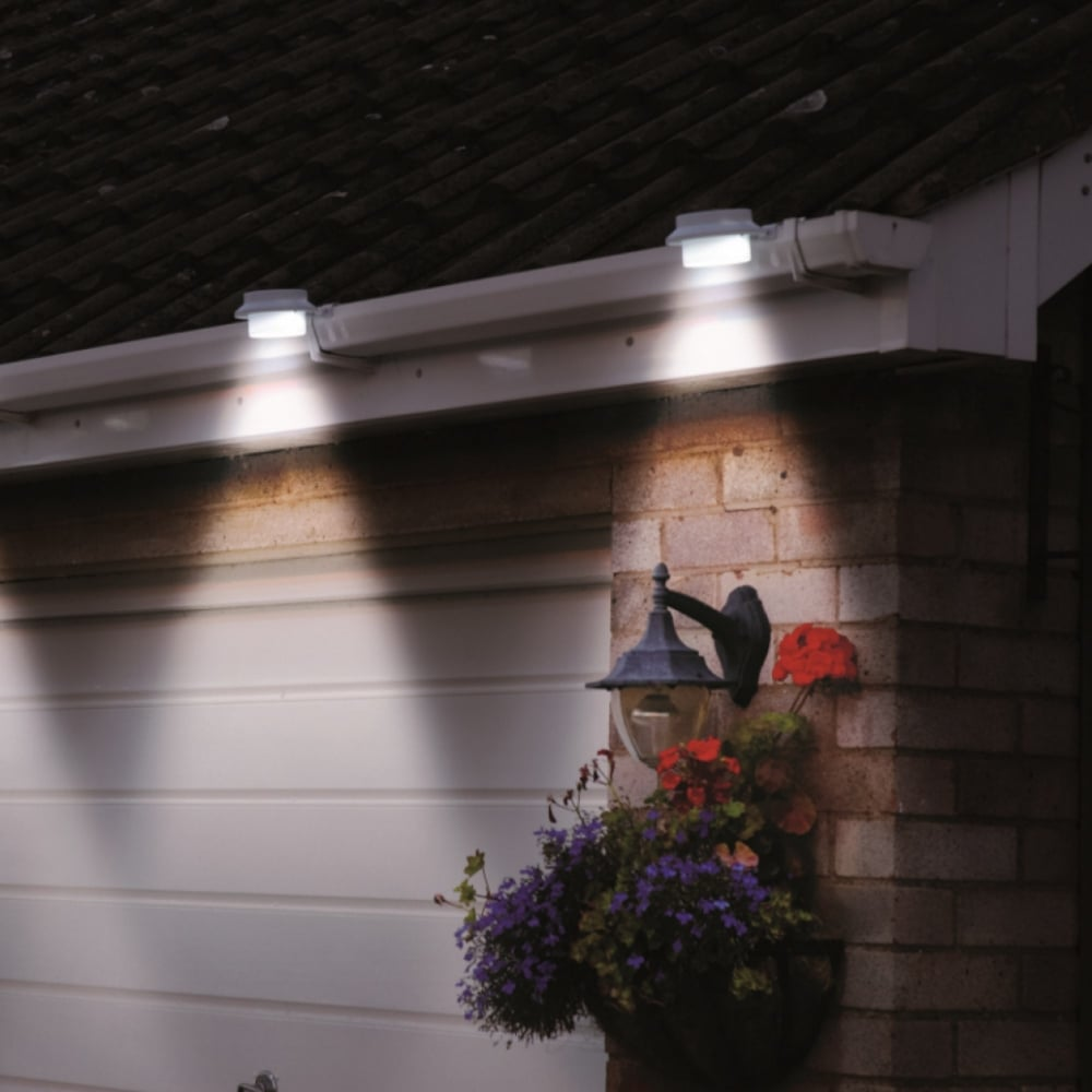 Powertek Solar Gutter Lights Pack Of Two Garden Street