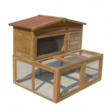 Rabbit Hutch with Extended Under-Run