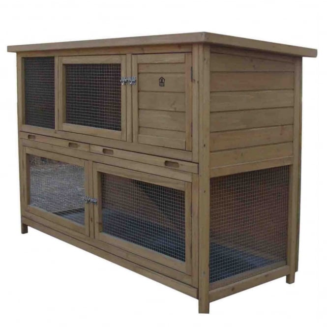 Rabbitshack Large Rabbit Hutch with Built-In Under Run