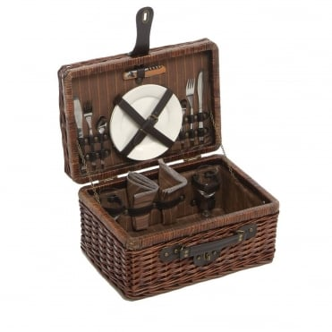 Rectangular Willow Picnic Hamper 2 Person