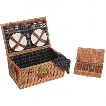 Rectangular Willow Picnic Hamper 4 Person
