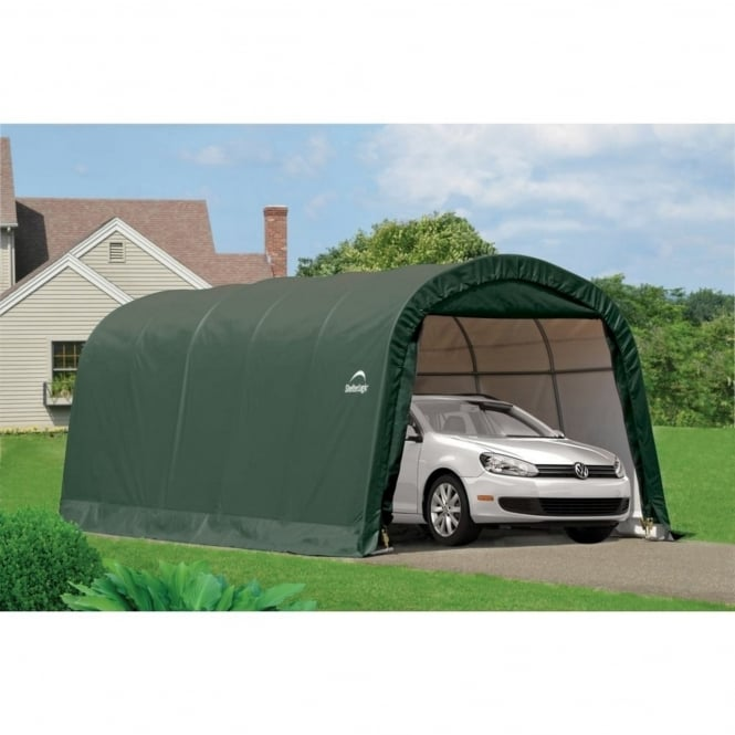 Shelter Logic Round Top Auto Shelter 10X20