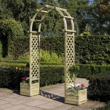 Arch With Planters