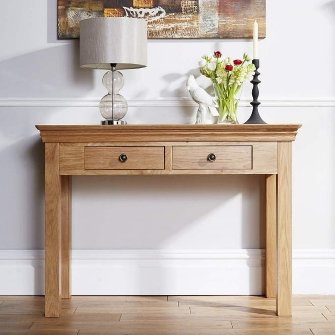 Rowlinson At Home Breton Solid Oak Hall Console Table