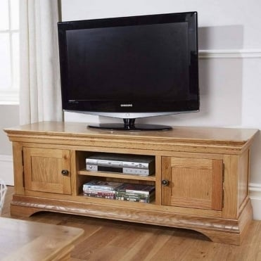 Breton Solid Oak Large TV Cabinet
